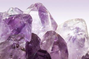 Des cristaux d'améthyste.